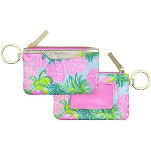 Lilly Pulitzer ID Case Keychain Wallet Card Holder